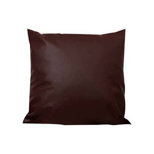 Pageantry - copricuscino in ecopelle, stile vintage, quadrato, decorativo, per soggiorno, divano, caffetteria, pelle in poliuretano, l, taglia unica