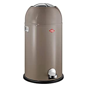 Wesco Kickmaster, kitchen bin, metal, 38 cm x 71 cm x 38 cm, Metal, Warm Grey, 38 x 71 x 38 cm