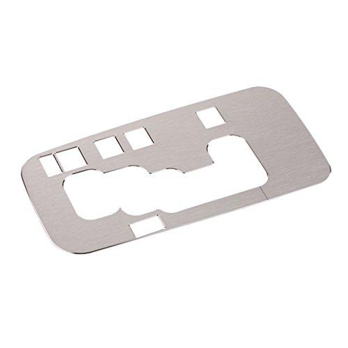 non-brand MagiDeal 1 Stück Autos Mittelkonsole Blende Schaltknauf Rahmen Abdeckung, Karosserie - Silber