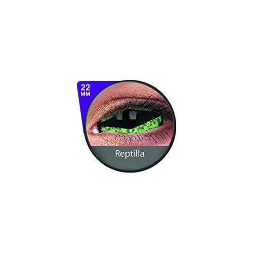 1 Paar Sclera REPTILLA Kontaktlinsen linsen farbige gruen reptilien vampir sklera mit Box dämon halloween kostüme - Reptilien Kostüm