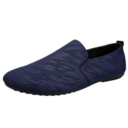 VJGOAL Herren Freizeitschuhe Retro Einfarbig Bequem EIN Fuß Flacher Boden Faule Schuhe Freizeit Erbsen Schuhe