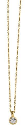 Dyrberg/Kern Damen-Kette mit Anhänger Icons Ette Sg Crystal Messing teilvergoldet Kristall open Prinzess - 329679
