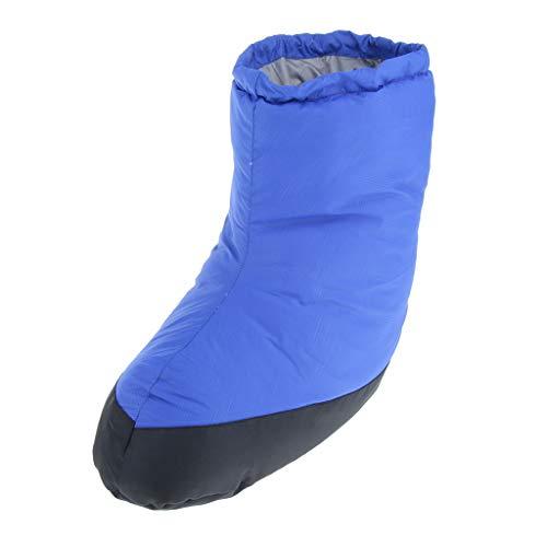 MagiDeal Duck Down Slippers Schuhe Booties Stiefel, Schuhe Camping Füße Decken Warme Fußwärmer Für Männer Frauen Indoor Outdoor - Blau m -