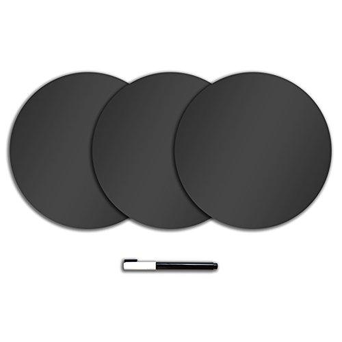 Wallpops anthrazit schwarz Dry Erase Dots (Black Dry Erase Board)