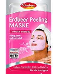 Erdbeer-peeling (10 x Schaebens Erdbeer Peeling Gesichtsmaske - reinigt sanft und porentief (10 x 2 x 6mL für 20 Anwendungen))