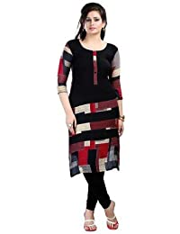 Roop Craft Women's Cotton Kurta (Neerza_Black)