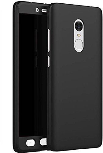 flysto Back Cover for Mi Redmi Note 4 (Metallic Black, Shock Proof, Artificial Leather, Rubber, Plastic)