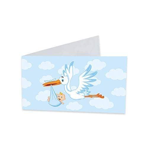 40 Bigliettini per bomboniere Nascita battesimo biglietto bomboniera sacchetto Bimbo confetti maschio azzurri