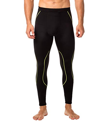 LAPASA Herren Fitness Leggings Kompressionshose Lang Tight UPF 50+ MEHRWEG M18