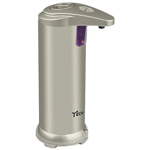 YECO Dispensador de jabón automático, Sensor de Infrarrojos dispensador de jabón Touchless con Funda Impermeable, Acero Inoxidable Cepillado Ideal para baño o Cocina