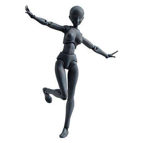 YA-Uzeun Zeichnungsfiguren für Künstler Actionfigur Modell Mannequin Mann Frau Kits woman B:Black(female) Pole Mount Adapter Kit