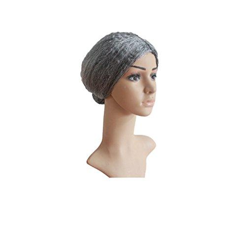 Halloween COSPLAY Perücken Makeup Party Bald Head Set ( Farbe : Gray short hair (Haar Kostüm Skelett)