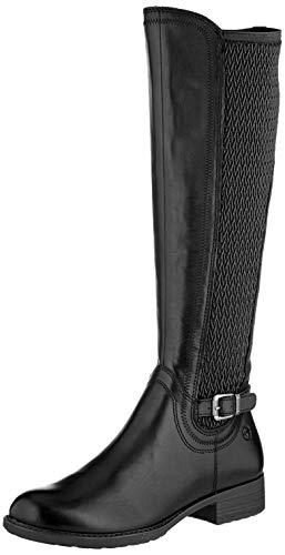 Tamaris Damen 1-1-25511-23 Hohe Stiefel, Schwarz (Black 1), 38 EU