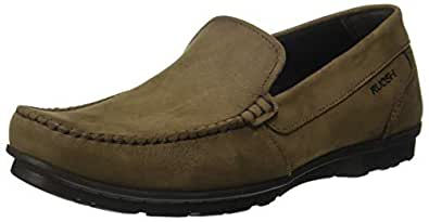Ruosh Men's Beige Leather Loafers-7.5 UK/India (41 EU) (AW18 Willy 01C)