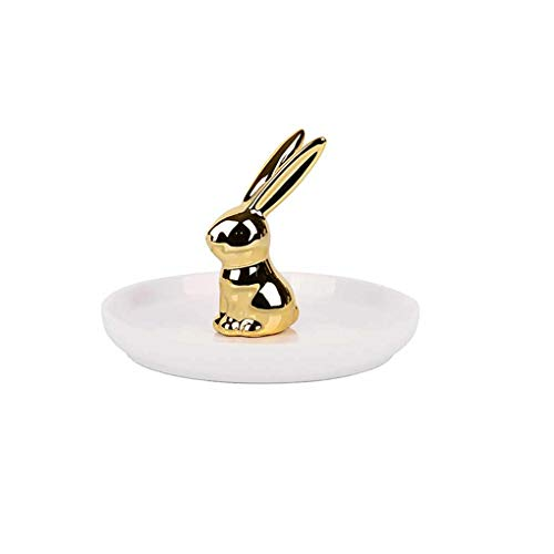 Provide The Best Ceramic Rabbit Earrings Plate Candy Dish Home Office Decorative Jewelry Trays Ring Bracelets Holder -