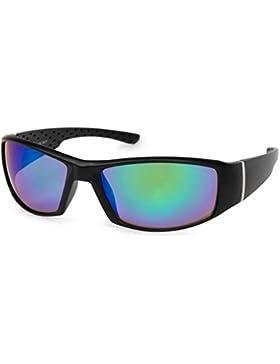 styleBREAKER gafas de sol de deporte de espejo o coloreadas, gafas de deporte, unisex 09020048