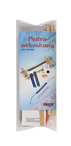 Pracht Creatives Hobby 3331 - Perla Webrahmen de Madera, desmontado en Plexi Embalaje, con Perlas e Instrucciones