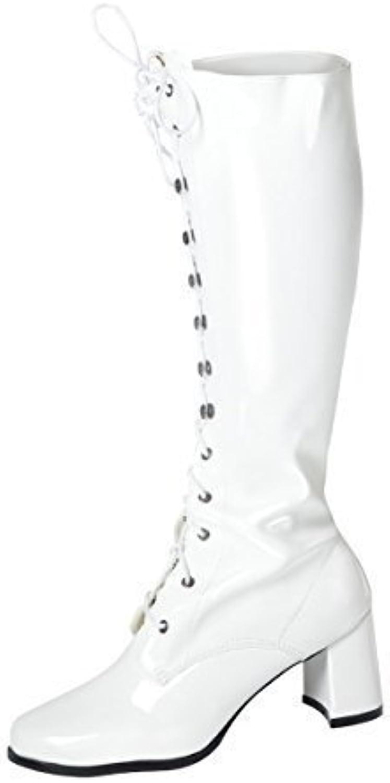 291e6b4c613d Knee High Patent Boots - Fancy Dress Fashion Parent Eyelet 26060 Boots -  Size 10 UK - White Patent B00I71PEKA Parent b48db0d