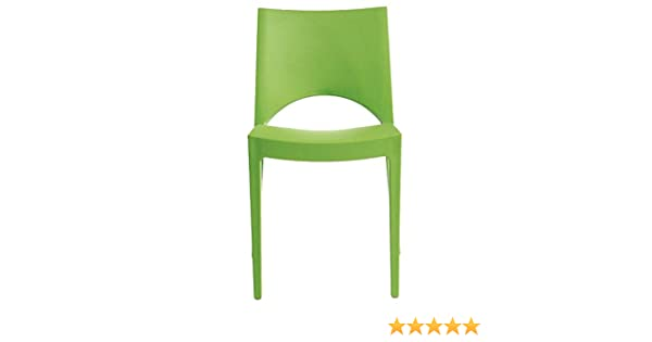 Sedia Ufficio Verde Mela : Sedia paris up on made in italy in polipropilene per interni e