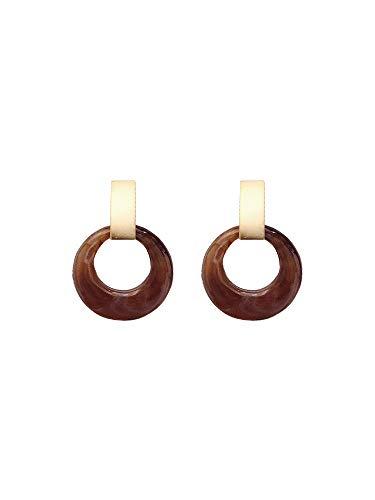 Metallic-kaffee (Damen Ohrringe 925 Silber Nadel Kaffee Metallic-Legierungen Geeignet für Damengeschenke)