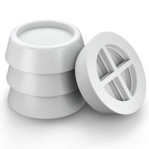 VIBIRIT Waschmaschine Füße Pad, Anti-Vibration Gummifüße rutschfeste Bodenbelag Protector Stoßdämpfende Unterlegscheibe Füße Pad für Trockner Kühlschrank Laufband Tisch Stuhl - Modell-holz-bodenbelag