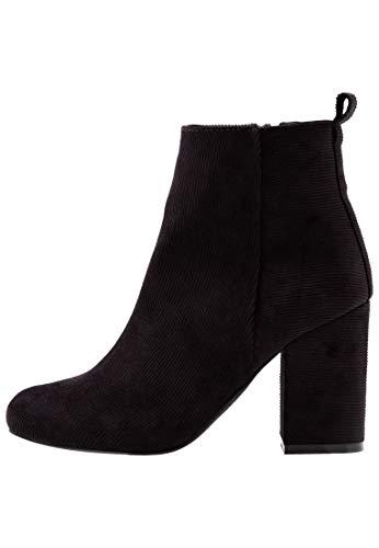 Even&Odd High Heel Stiefelette für Damen - Ankelboots mit Blockabsatz, Schwarz, 36