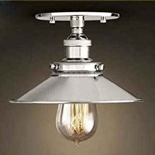 BAYCHEER Semi-Flush Mount Lamp 22cm E27 Celling Light Kitchen Lamp Ceiling Fixture Industrial Lighting Polished Chrome