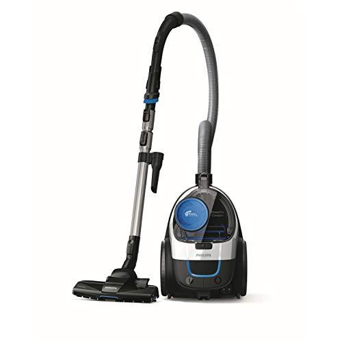 Philips FC9332/09 Aspirateur sans Sac PowerPro Compact, Technologie Power Cyclone 5, Brosse Triactive, Filtre anti-allergènes, Bleu 1,5L[Classe énergétique A]