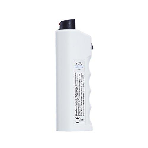 Pfefferspray, Alarm, Blaulicht, Abwehrschlag Funktion das 4-in-1 YouOkay Abwehrsystem inkl. Batterien Abbildung 2