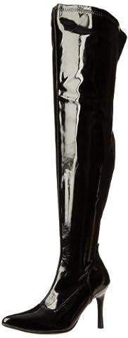 Pleaser Lust-3000X, Bottes Classiques Femme, Noir (Blk Str Pat), 40.5 EU