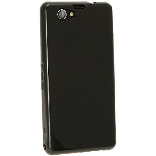 igadgitz U2807 Custodia TPU per Sony Xperia Z1 Compact D5503 Case Cover con Pellicola - Nero