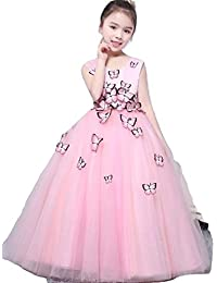 6c117ccd7332 Kaiyanaat Organza Girls/Womens Party wear Floor Length Gown in Colour Pink  Size(2years