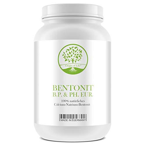 BENTONIT B.P. & Ph. Eur. – 1000g Pulver - Montmorillonit über 90% - Ultrafein in Pharmaceutischer Reinheit und Qualität - mikronisierter aktivierter Bentonit - Detox