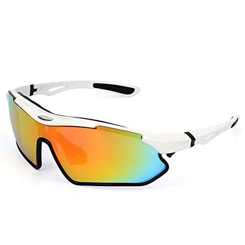 MaxAst Sportbrille Outdoor Skibrille Damen Herren Schutzbrille Winddicht Outdoor Weiß Schwarz