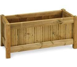 Fioriera Casual in legno cm. 80x40x40 in kit di montaggio