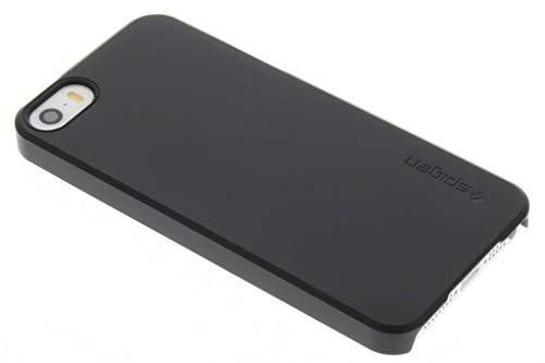 Cover iPhone 5, Spigen Cover iPhone 5S / SE [Rivestimento Soft-Feel] Thin Fit [Black] **Custodia Sottile & Robusto** Forma Perfetta, Custodia iPhone 5 / 5S / SE (041CS20168)