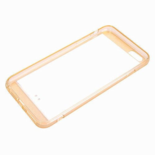 iPhone 6 / 6s Case, Case Silicone Rubber Ultra Thin Bling Glitter Gel pour Apple iPhone 6 / 6s , blanc or