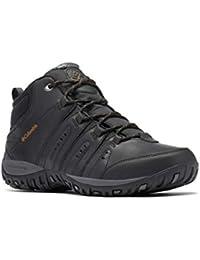 Columbia Woodburn II Chukka Waterproof Omni-Heat, Zapatos Hombre, Negro (Black, Goldenrod), 40 EU