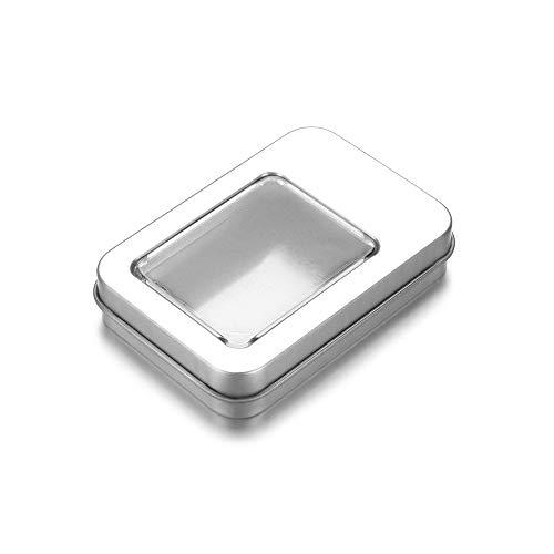 Kopfhörer Ohrringe Münzen Schlüssel Container für Dampproof Aufbewahrungsboxen Schmuck Metall Blechdose Box(Silver)