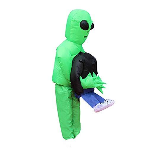 AITOCO Halloween-Kostüm für Erwachsene, grüner Geist, aufblasbar, mit Gebläse, Kostüm, Kostüm, Party, Cosplay-Kostüm