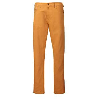 Alexanders of London Luxury Soft Cotton Colour Drill Jeans - Mustard - Size 40/36