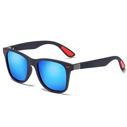 DZBMY Sonnenbrillen Polarisierte Klassische Business Outdoor Fahren Modemarke Designer Männer Frauen Quadratischen Rahmen Sonnenbrille Männliche Schutzbrille Shades Beschichtung Spiegel Weiblich