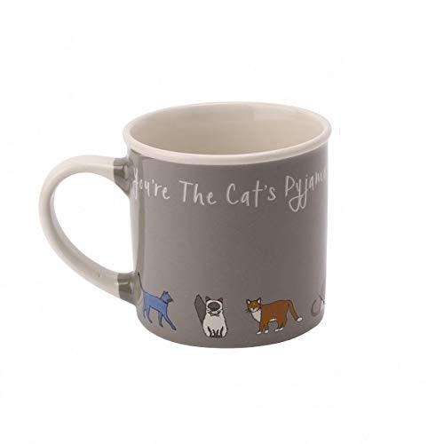 Paws For Thought 'Cat's Pyjamas' Cat Stoneware Mug