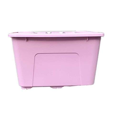 GAIXIA Große transparente Box aus Kunststoff zur Aufbewahrung Ablagekorb (Color : Pink, Size : 170L*2(Two Products))