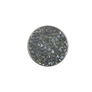 Magnetbrosche, Clip, Schmuckanhänger aus Edelstahl, 20mm, handgefertigt, einfarbig mit Struktur grau