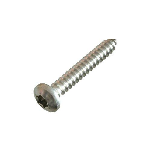 50 Linsenkopf-Blechschrauben Edelstahl 5,5 x 25 mm • ISO 14585 / DIN 7981 • Linsenblechschraube mit Innensechsrund (Torx) T25 • Werkstoff A2 (VA / V2A)