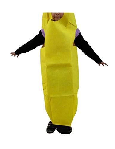 zhxinashu Kids Leichtbau Früchte Halloween Party Kostüme Mädchen Jungs Rollenspiel Outfits (Banane) (Kids Banane Kostüme)