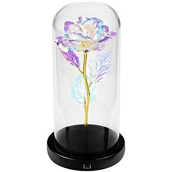 BESTOYARD 24K Gold Rose Blume Geschenk für Valentinstag ...