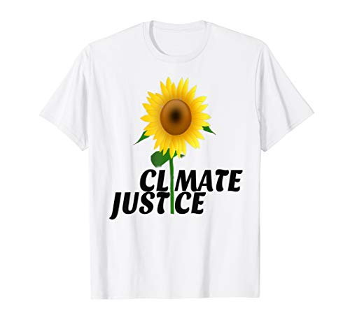 Climate Justice Sunflower Against Climate Change Save Earth T-Shirt