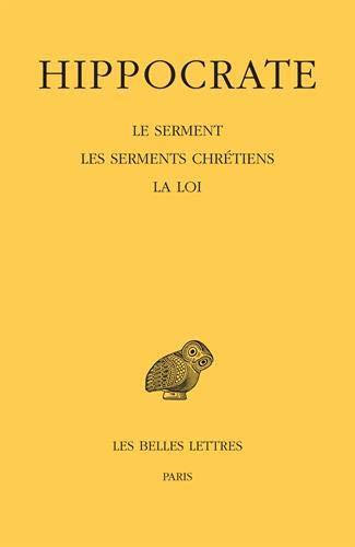 Tome I, 2e partie : Le Serment. Les Serments chrétiens. La Loi